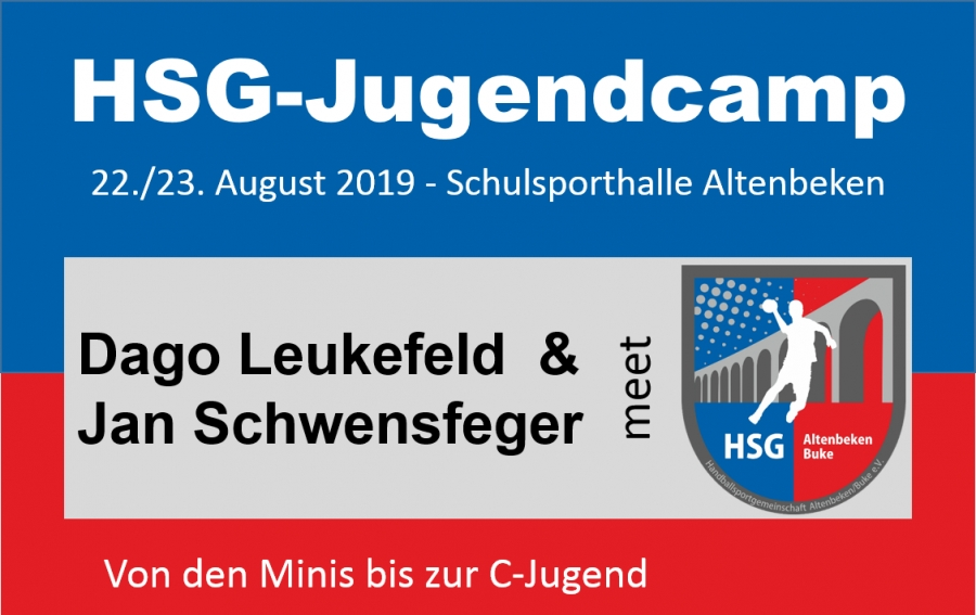 HSG-Jugendcamp - Anmeldungen bis zum 31  Juli